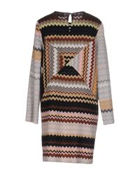 Missoni - Gray Short Dress - Lyst