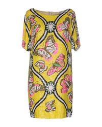 Paul & Joe - Yellow Mariposa Sequined Mini Dress - Lyst