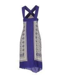 Alberta Ferretti - White Knee-length Dress - Lyst