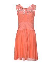 Class Roberto Cavalli - Blue Short Dress - Lyst