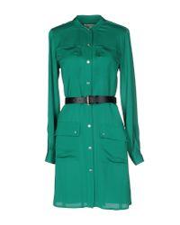 MICHAEL Michael Kors - Green Short Dress - Lyst