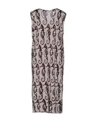 Boutique Moschino - White Knee-length Dress - Lyst