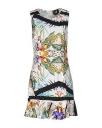 Class Roberto Cavalli | White Short Dress | Lyst