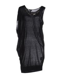 Armani Jeans | Black Short Dress | Lyst