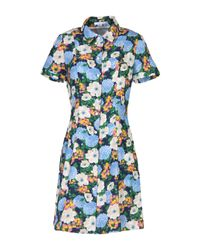 Carven | Blue Short Dress | Lyst