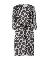 Boutique Moschino | Black Knee-length Dress | Lyst