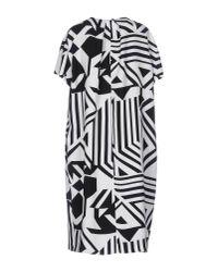 Max Mara Studio - White Knee-length Dress - Lyst