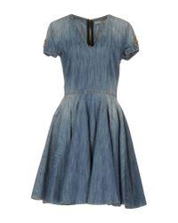 Amen | Blue Short Dress | Lyst