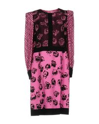 Emanuel Ungaro - Purple Knee-length Dress - Lyst