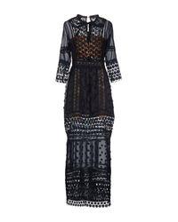 NJ COUTURE - Blue Long Dress - Lyst