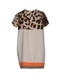 Amorimiei Paolo Petrone - Natural Short Dress - Lyst