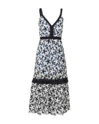 Self-Portrait - Black 3/4 Length Dress - Lyst