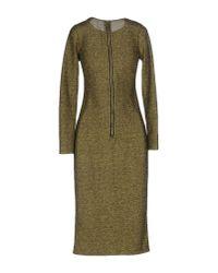 Glamorous - Metallic Knee-length Dress - Lyst