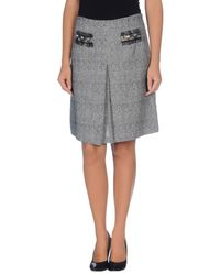 Sinequanone - Gray Knee Length Skirt - Lyst