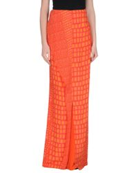 Richard Nicoll | Red Long Skirt | Lyst