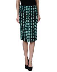 Gat Rimon - Green Knee Length Skirt - Lyst