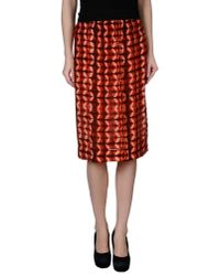 Gat Rimon - Red Knee Length Skirt - Lyst