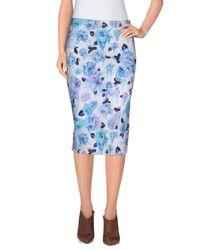 Calla - Blue Knee Length Skirt - Lyst