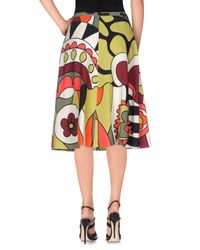 RED Valentino - Multicolor Knee Length Skirt - Lyst