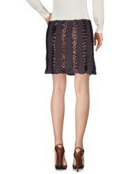 Liu Jo - Brown Mini Skirt - Lyst