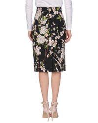 Dolce & Gabbana - Black 3/4 Length Skirt - Lyst