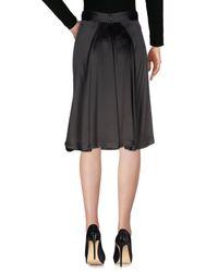 Anna Molinari - Black Knee Length Skirt - Lyst