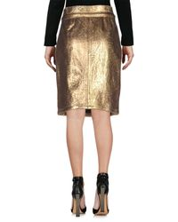 Blumarine - Metallic Knee Length Skirt - Lyst
