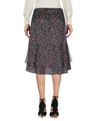Diane von Furstenberg - Black Knee Length Skirt - Lyst