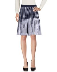 Antonino Valenti - Blue Knee Length Skirt - Lyst