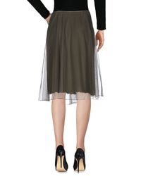 P.A.R.O.S.H. - Green Knee Length Skirt - Lyst