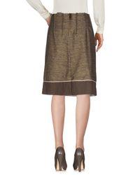 Weber - Natural Knee Length Skirt - Lyst