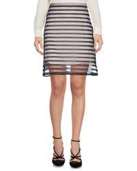 CLU   Black Knee Length Skirt   Lyst