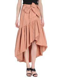 Pinko - Pink Knee Length Skirt - Lyst