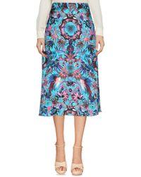 Matthew Williamson | Blue 3/4 Length Skirt | Lyst