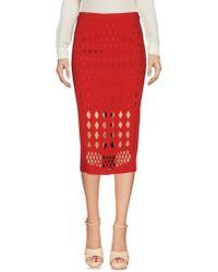 Pinko | Red 3/4 Length Skirt | Lyst