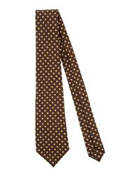 Mp Massimo Piombo - Brown Tie for Men - Lyst