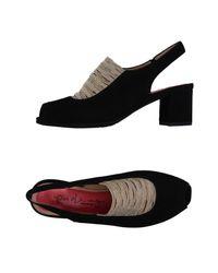 Pas De Rouge - Black Sandals - Lyst