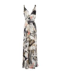 Donna Karan - White Long Dress - Lyst