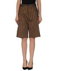 Erika Cavallini Semi Couture | Natural Bermuda Shorts | Lyst