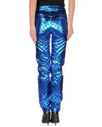 Au Jour Le Jour - Blue Casual Trouser - Lyst