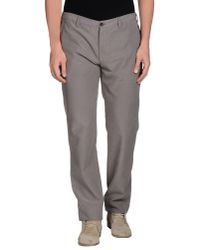 Armani - Gray Casual Pants for Men - Lyst