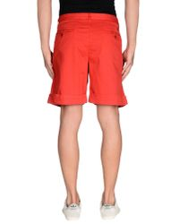 Fred Perry - Red Bermuda for Men - Lyst