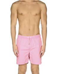 Scotch & Soda | Pink Swimming Trunks for Men | Lyst