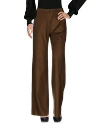 Sportmax | Brown Casual Trouser | Lyst