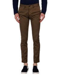 4 Four Messagerie | Brown Casual Pants for Men | Lyst