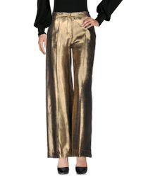 Jucca - Metallic Casual Pants - Lyst