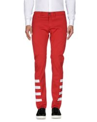 Department 5 - Red Casual Trouser for Men - Lyst