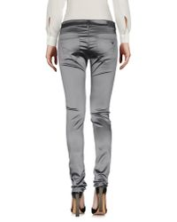 Emporio Armani - Gray Casual Pants - Lyst