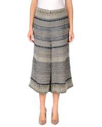 Erika Cavallini Semi Couture | Blue 3/4-length Trousers | Lyst