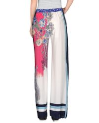 Etro | White Casual Trouser | Lyst